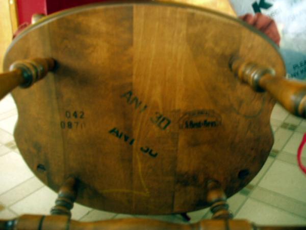 Antique Ethan Allen Dinette Set + 4 Chairs