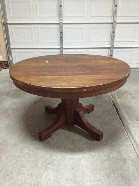Solid Oak Pedestal Dining Table Circa 1890 1900