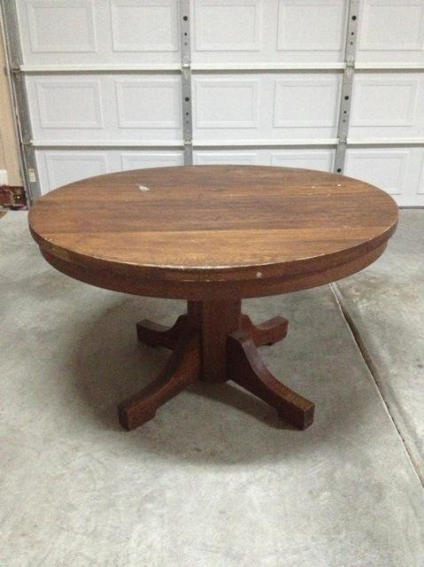 solid oak pedestal dining table   circa 1890   1900 solid oak pedestal dining table   circa 1890   1900 antique      rh   instappraisal com
