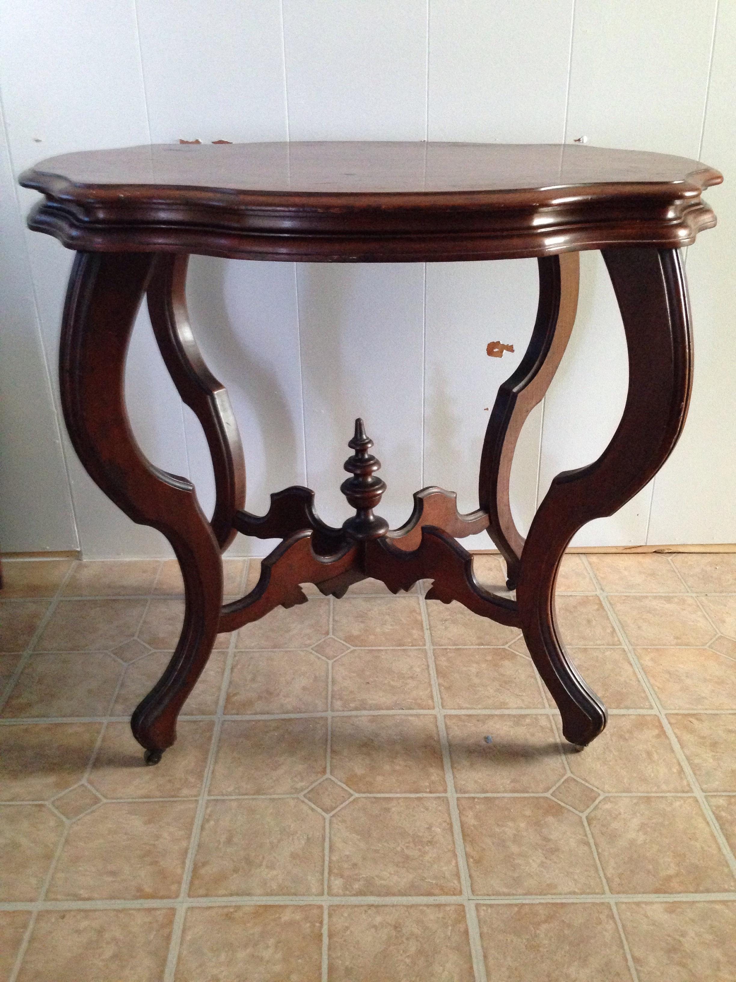 Antique Table With Cabriole Legs (Queen Anne Style)