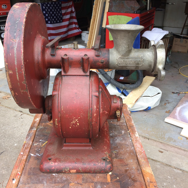 Meat Grinder For Sale >> Antique Electric Industrial Meat Grinder antique appraisal ...