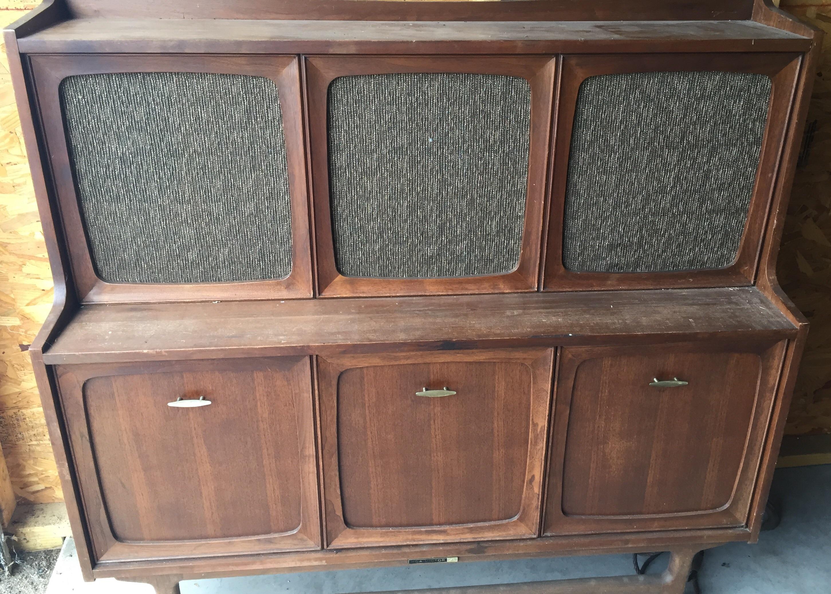 RCA Victor Victrola entertainment console antique appraisal