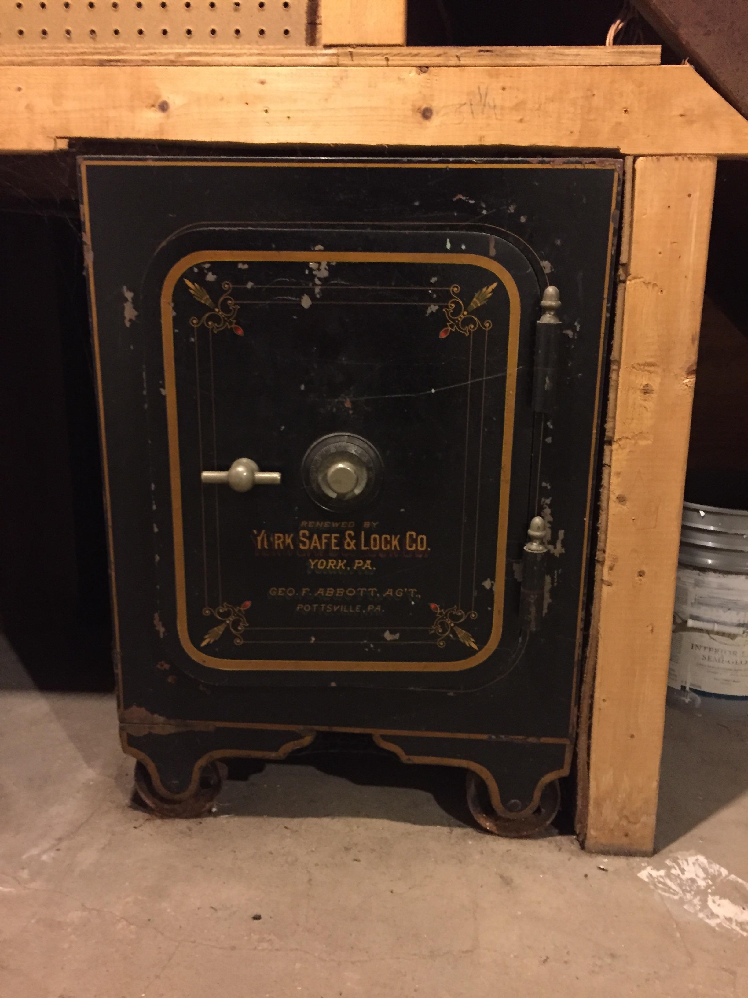 york safe. antique safe from york lock \u0026 co. n