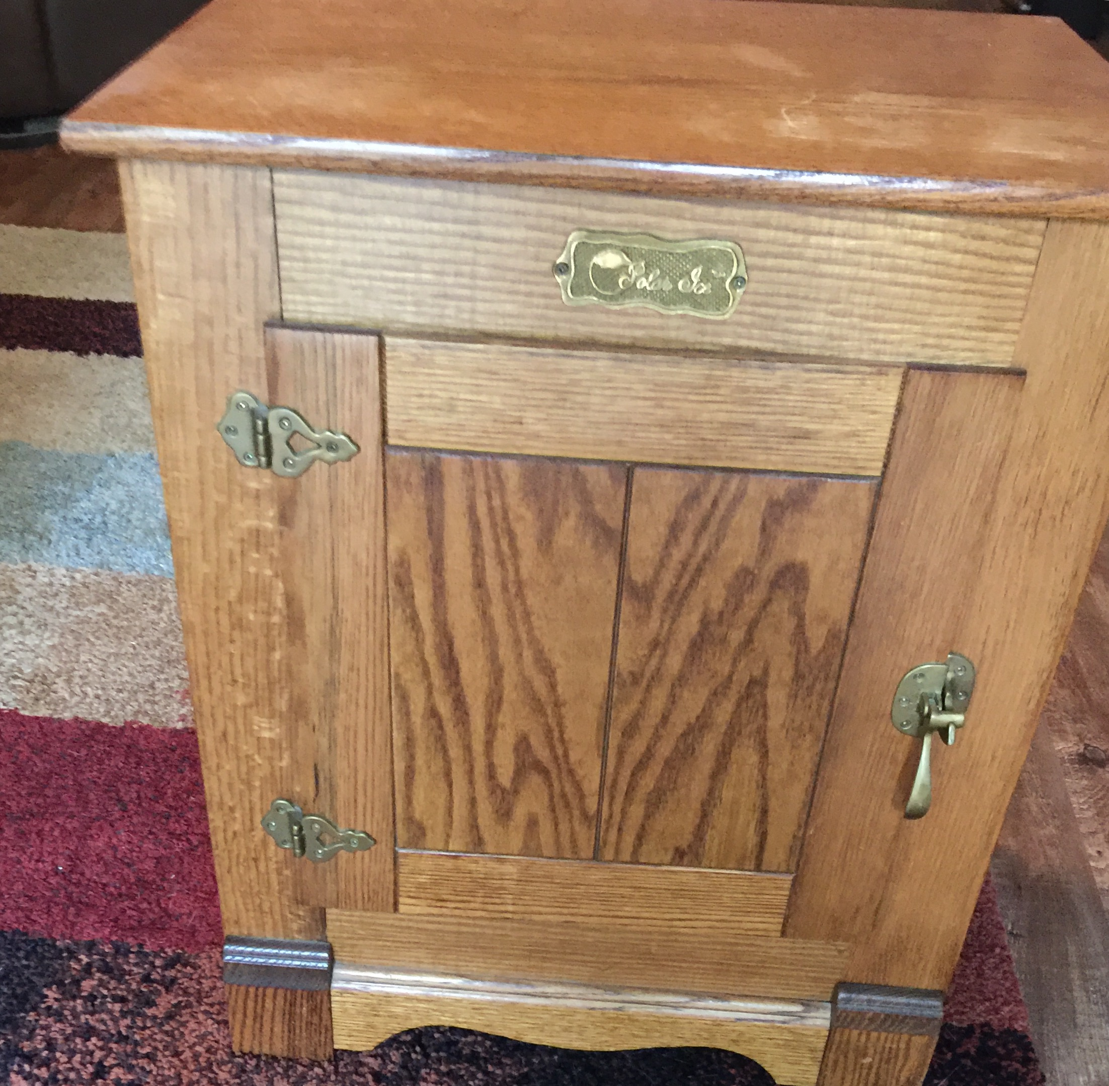 antique ice box brands Polar Ice Brand Ice box antique appraisal | InstAppraisal antique ice box brands
