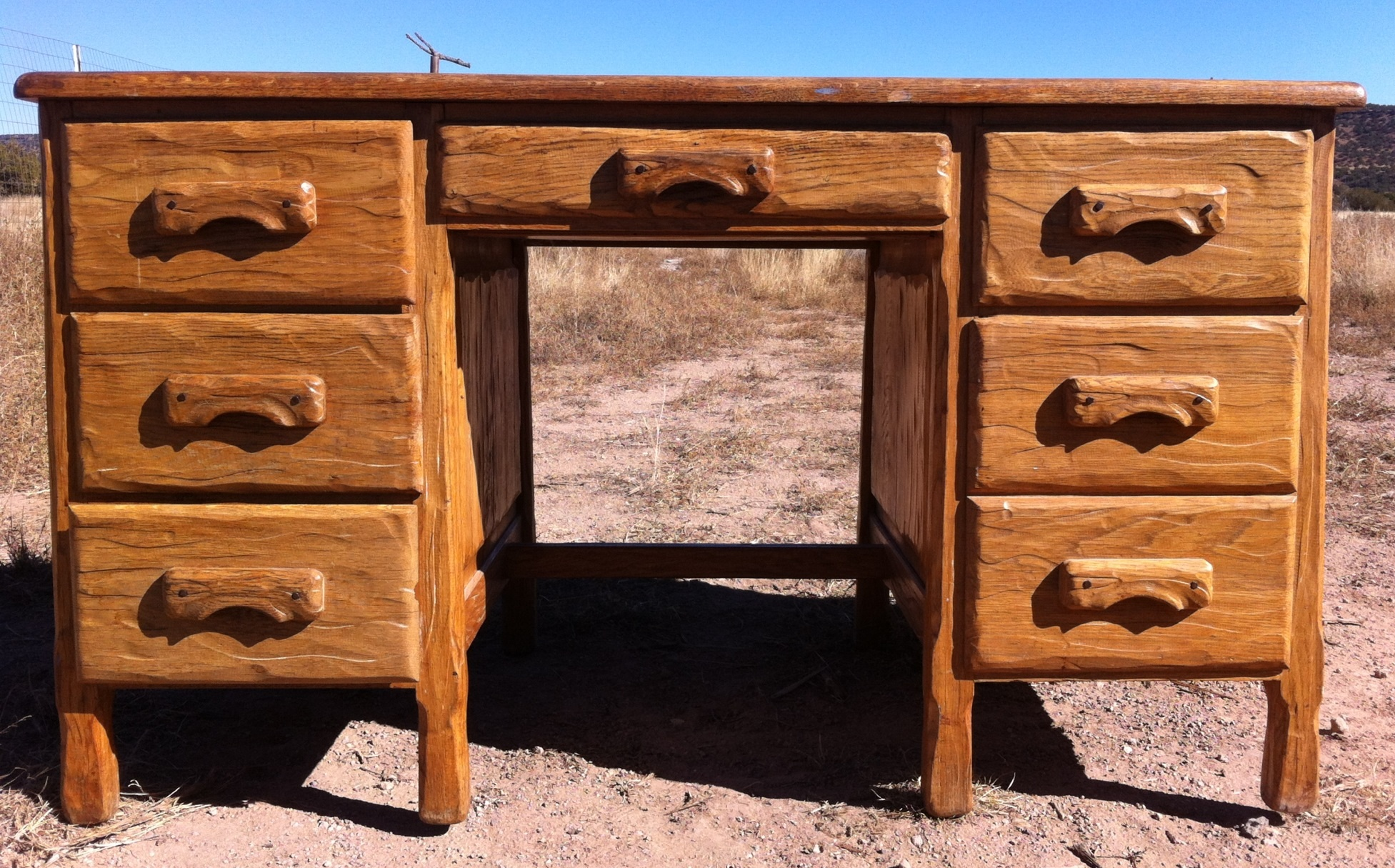 Antique Oak Office Desk