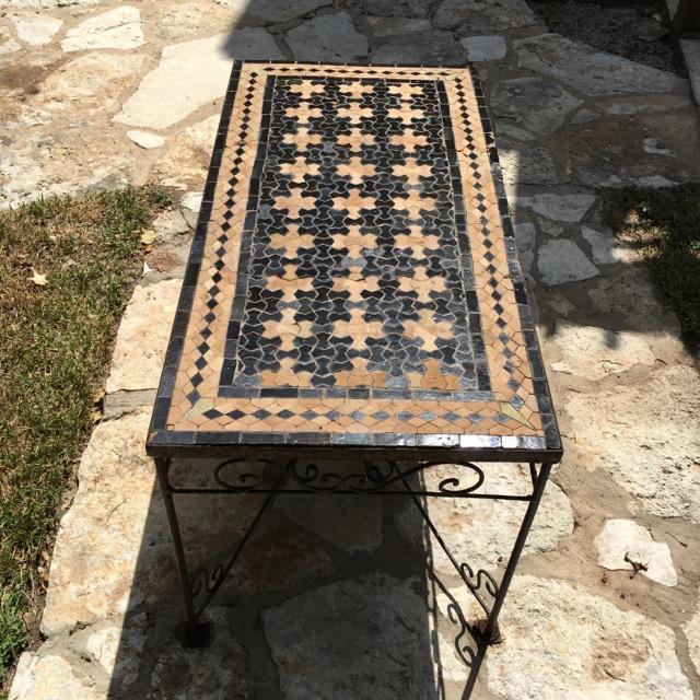 Moroccan Mosaic Tile Patio Table