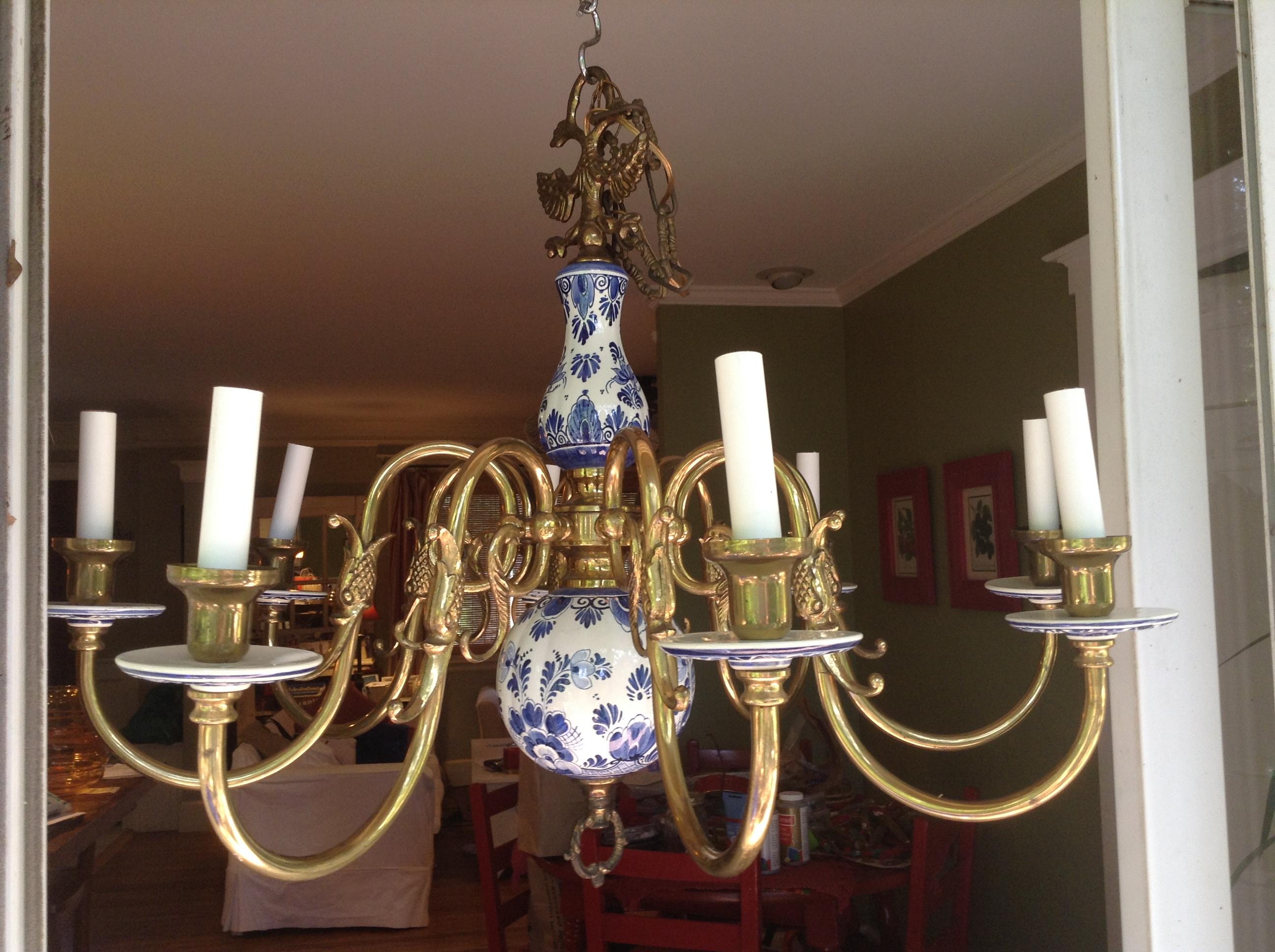 Antique delft chandelier 8 arms antique appraisal instappraisal antique delft chandelier 8 arms arubaitofo Images