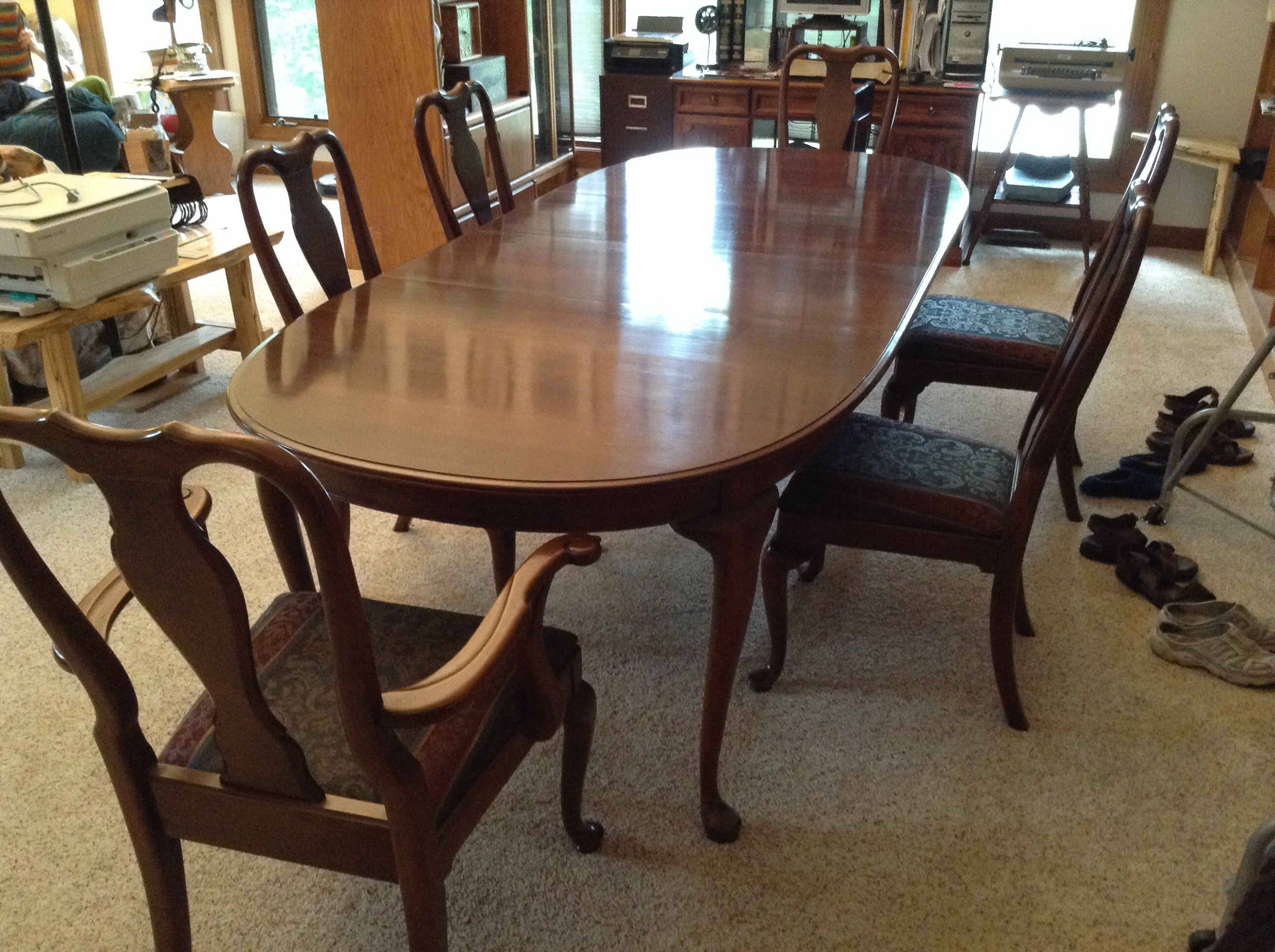 kling colonial dining room set w 6 chairs antique appraisal