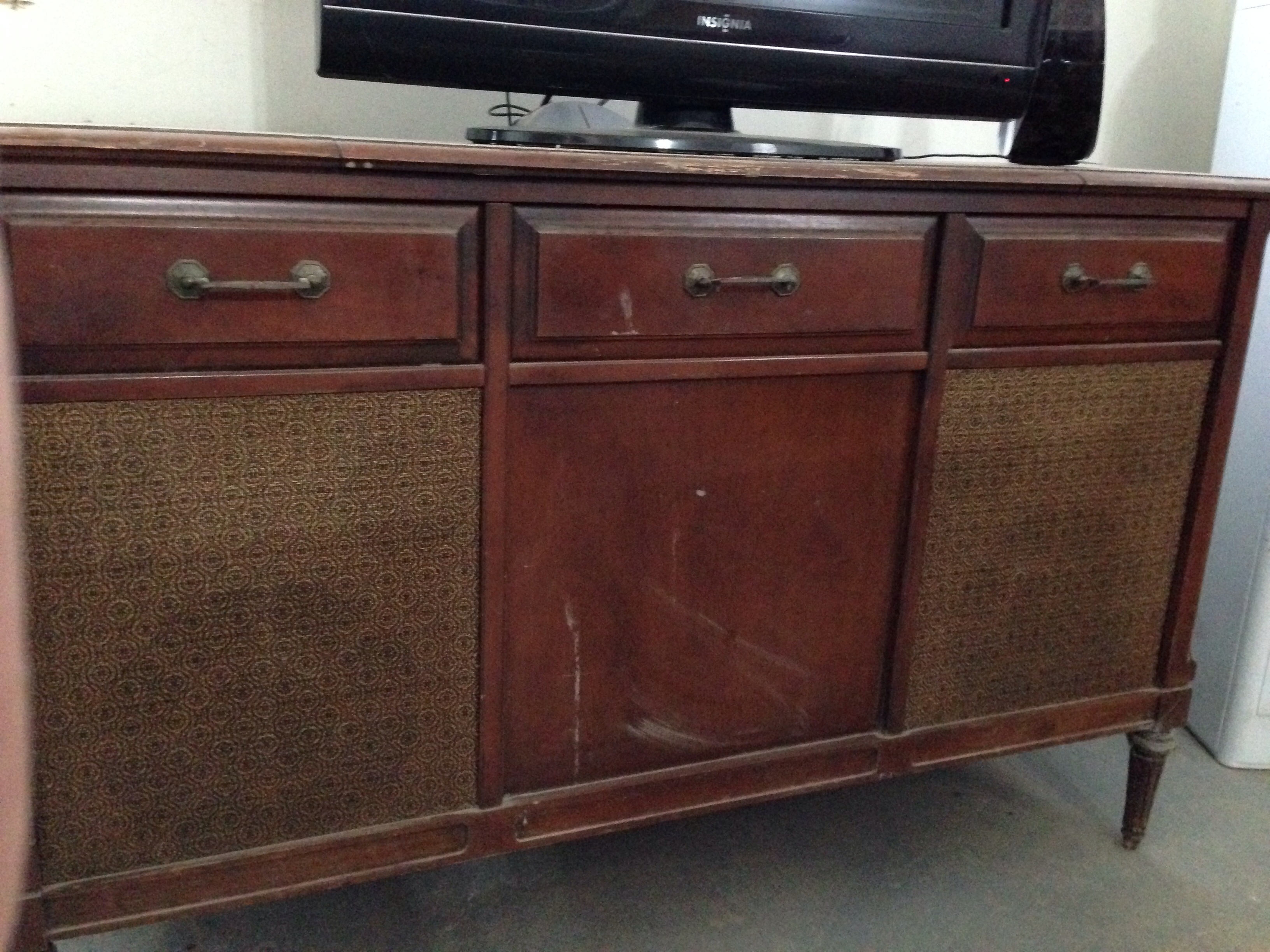Sears Silvertone Record Player Diagram Ge Players Trimline Vintage Console Wiring In Cabinet Antique Appraisal At