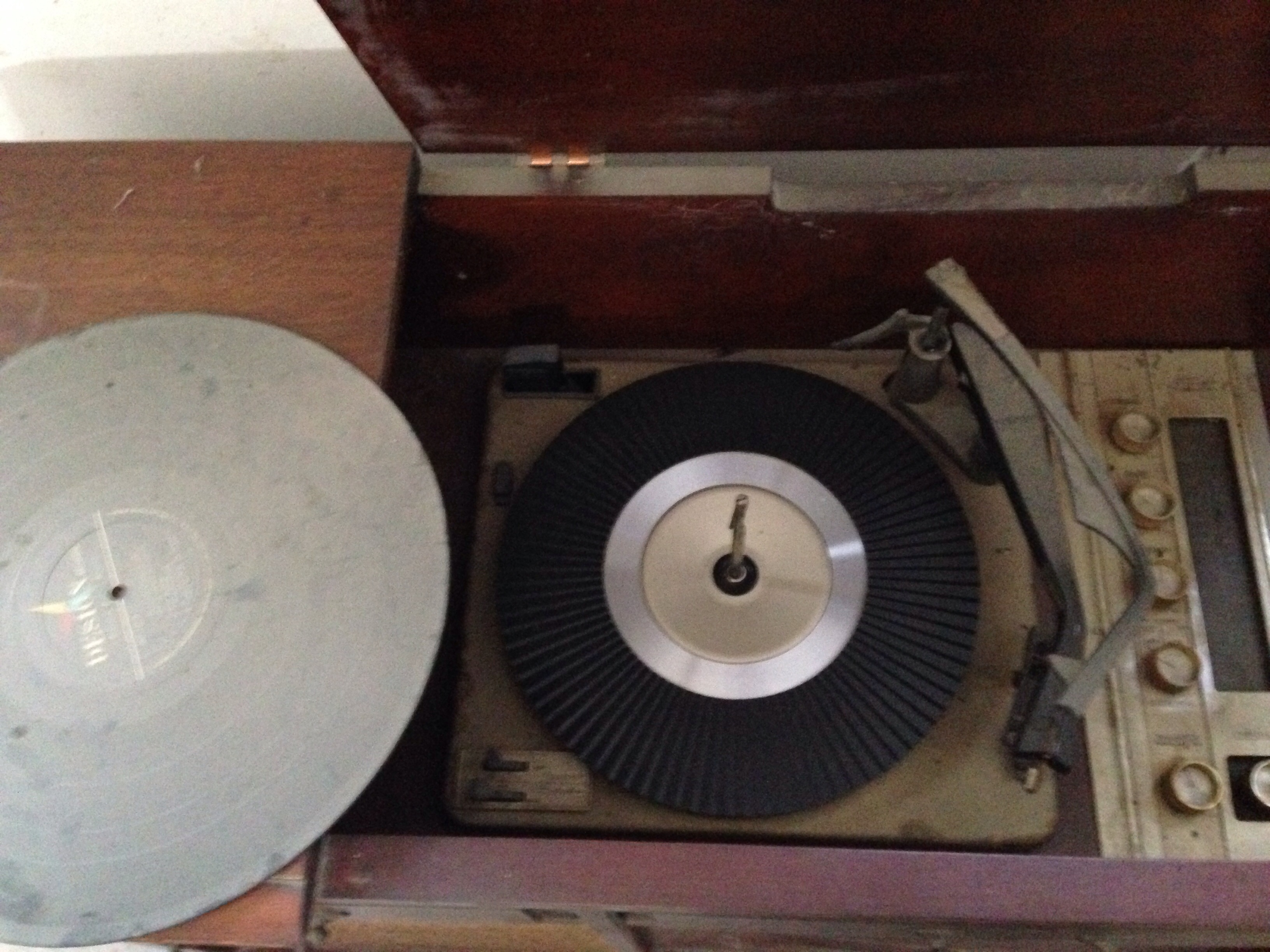 Sears Silvertone Record Player Diagram Ge Players Trimline Vintage Console Wiring In Cabinet Antique Appraisal