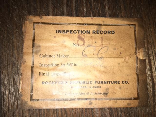 Rockford Republic Furniture Company Dining Set Antique Appraisal