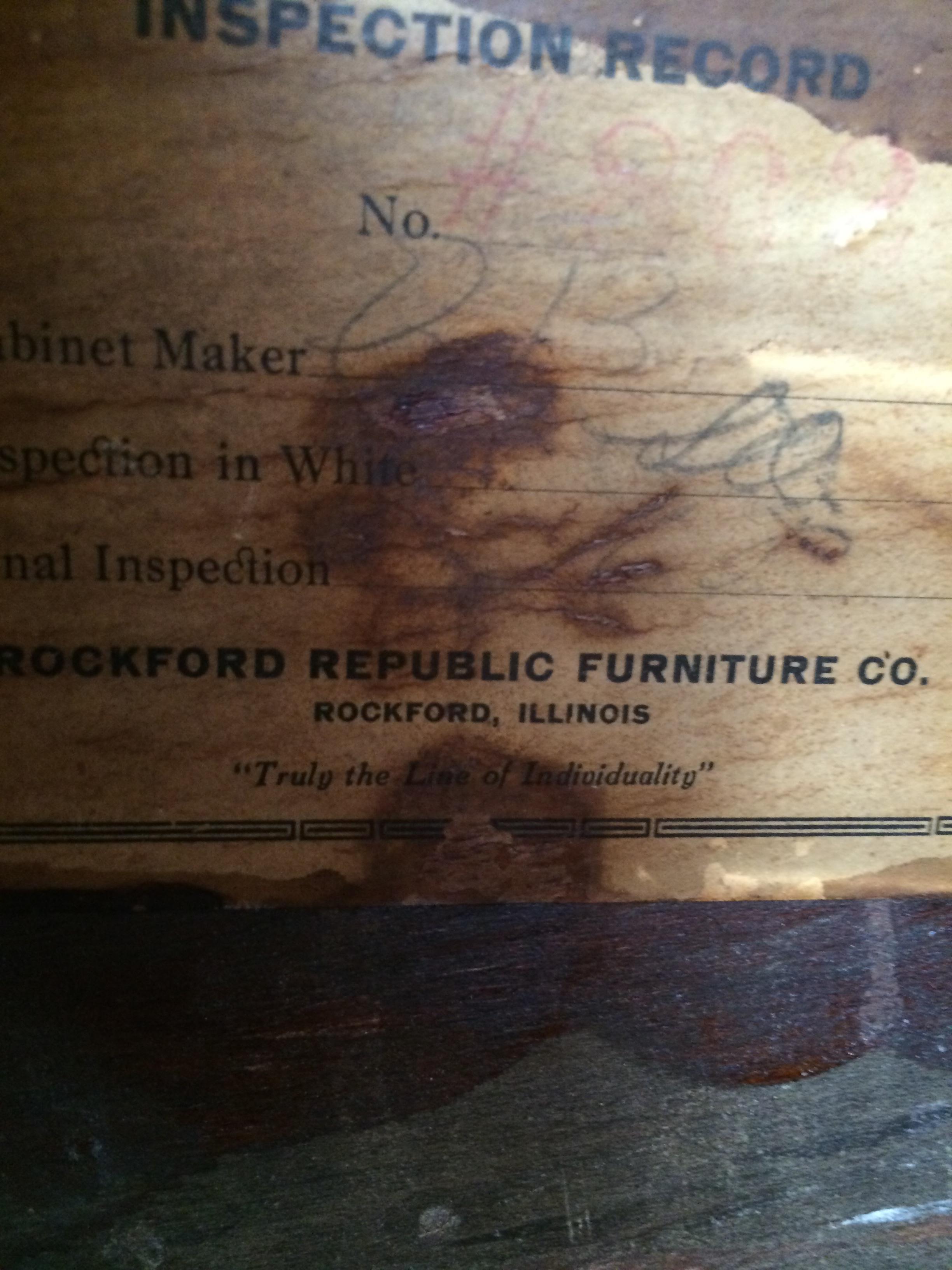 Rockford Republic Buffet Server Antique Appraisal Instappraisal