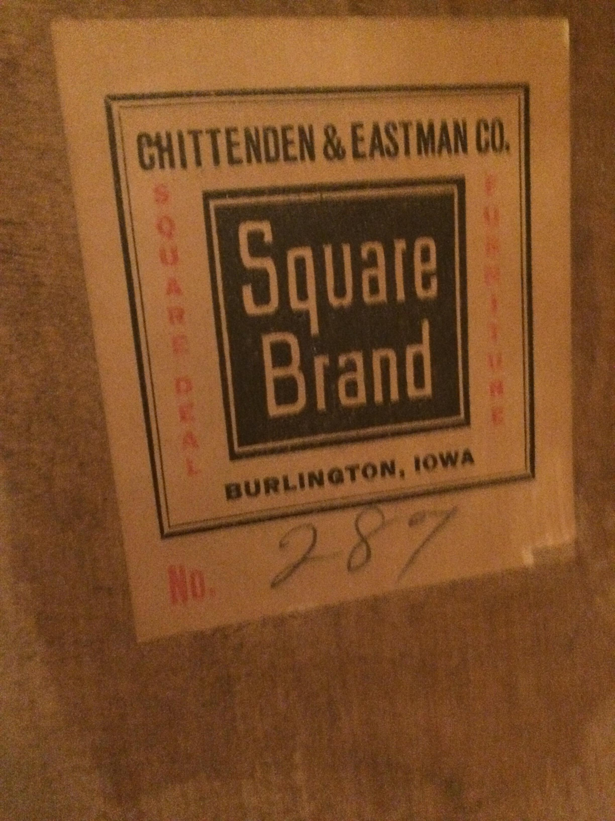 Square Brand Chittenden Amp Eastman Company Antique