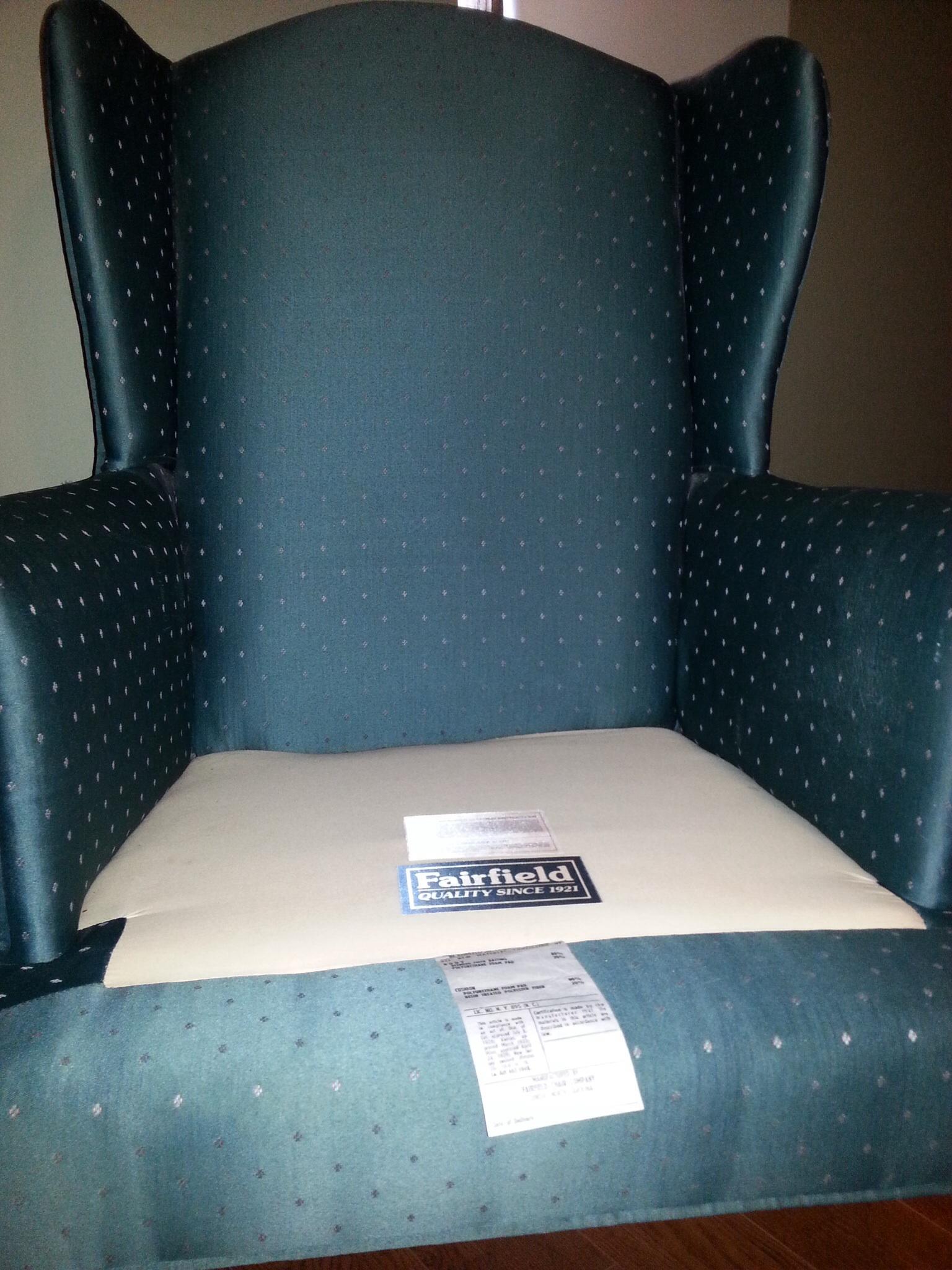 2 Fairfield Chair Company Wingback Chairs