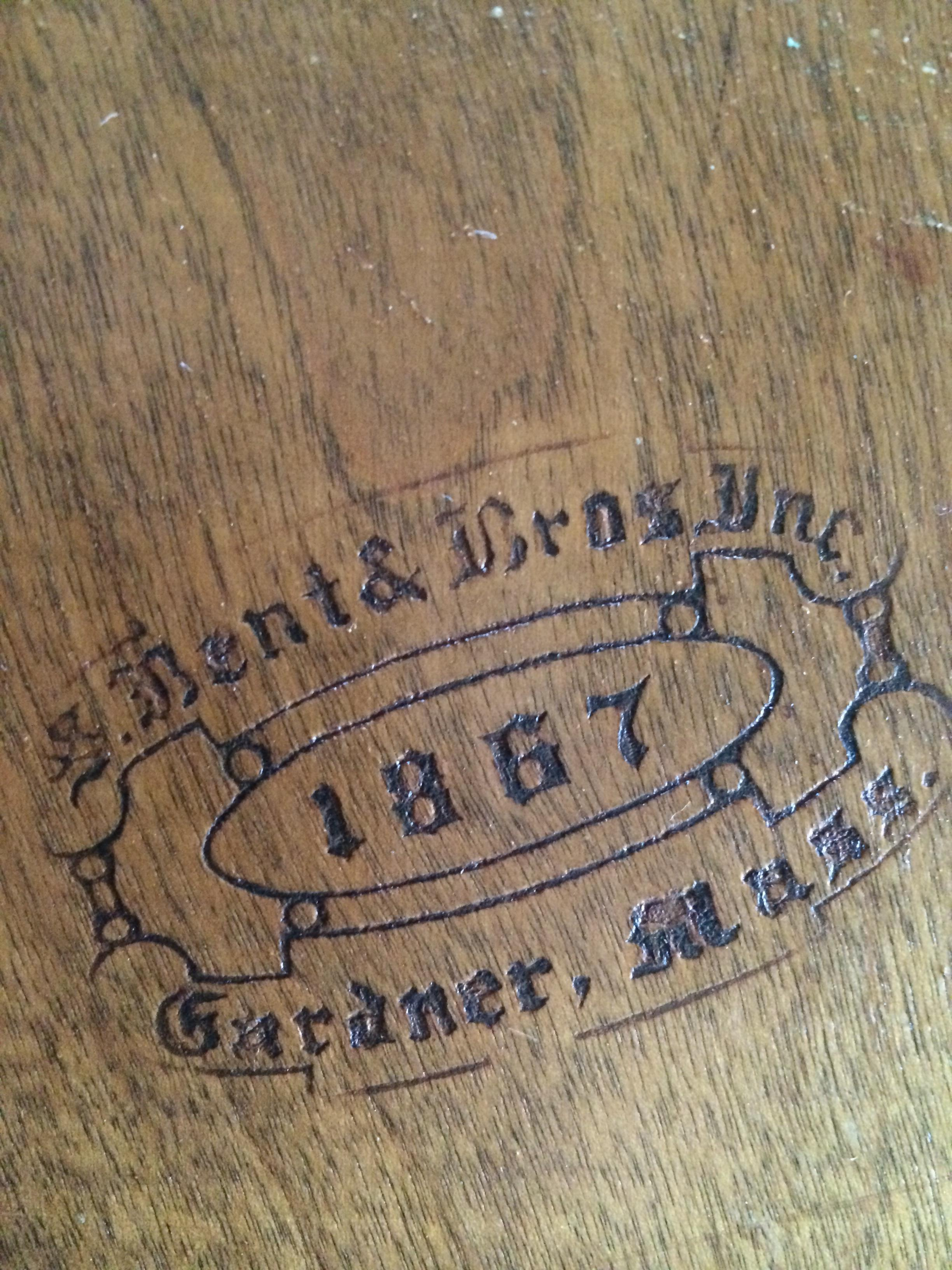 S. Bent And Brothers Windsor Back Chairs And Table