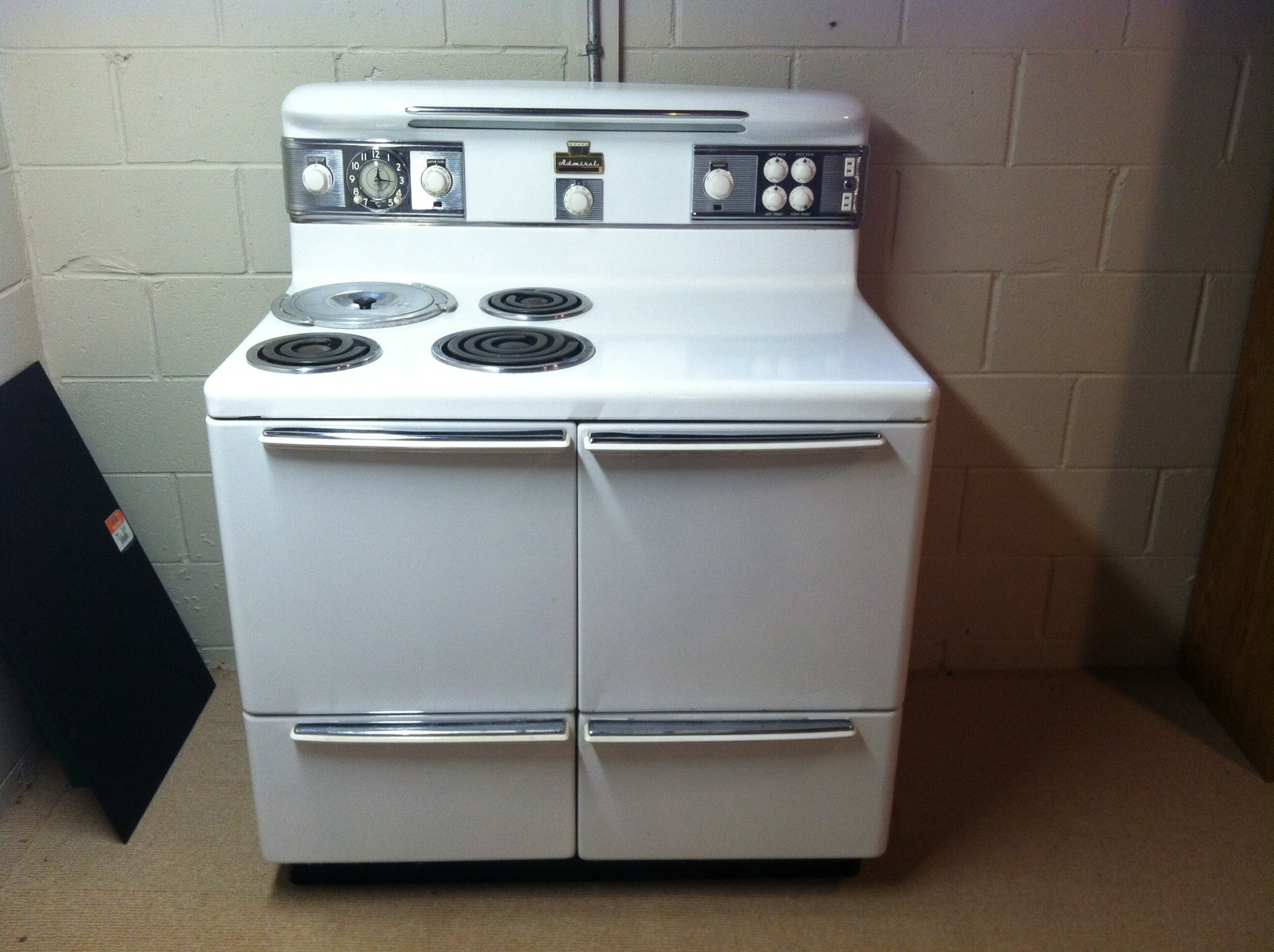 Admiral Electric Range R-2-47 with manual antique appraisal ...