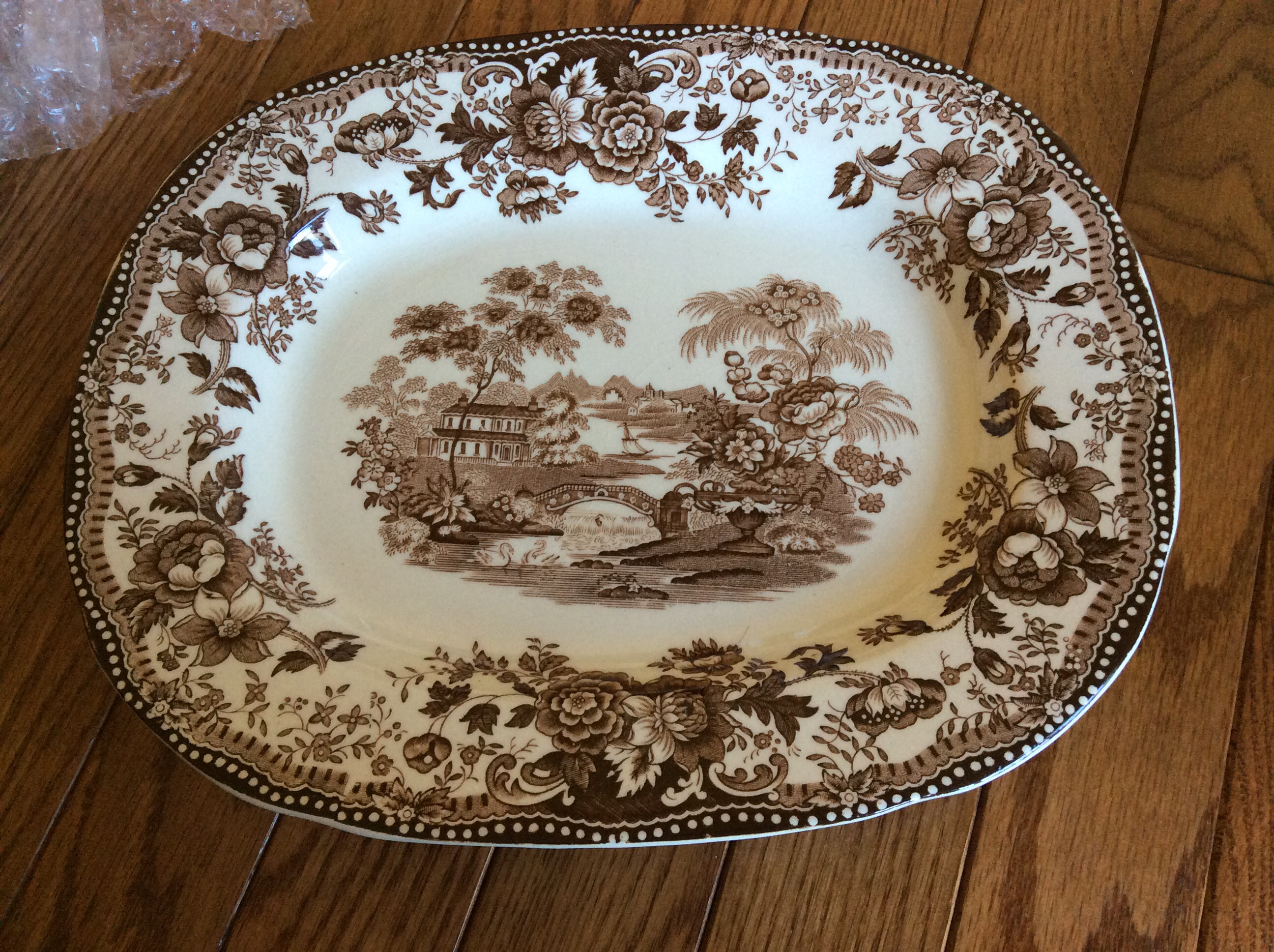 Royal Staffordshire dinnerware by Clarice Cliff \ Tonquin\  Brown & Royal Staffordshire dinnerware by Clarice Cliff \