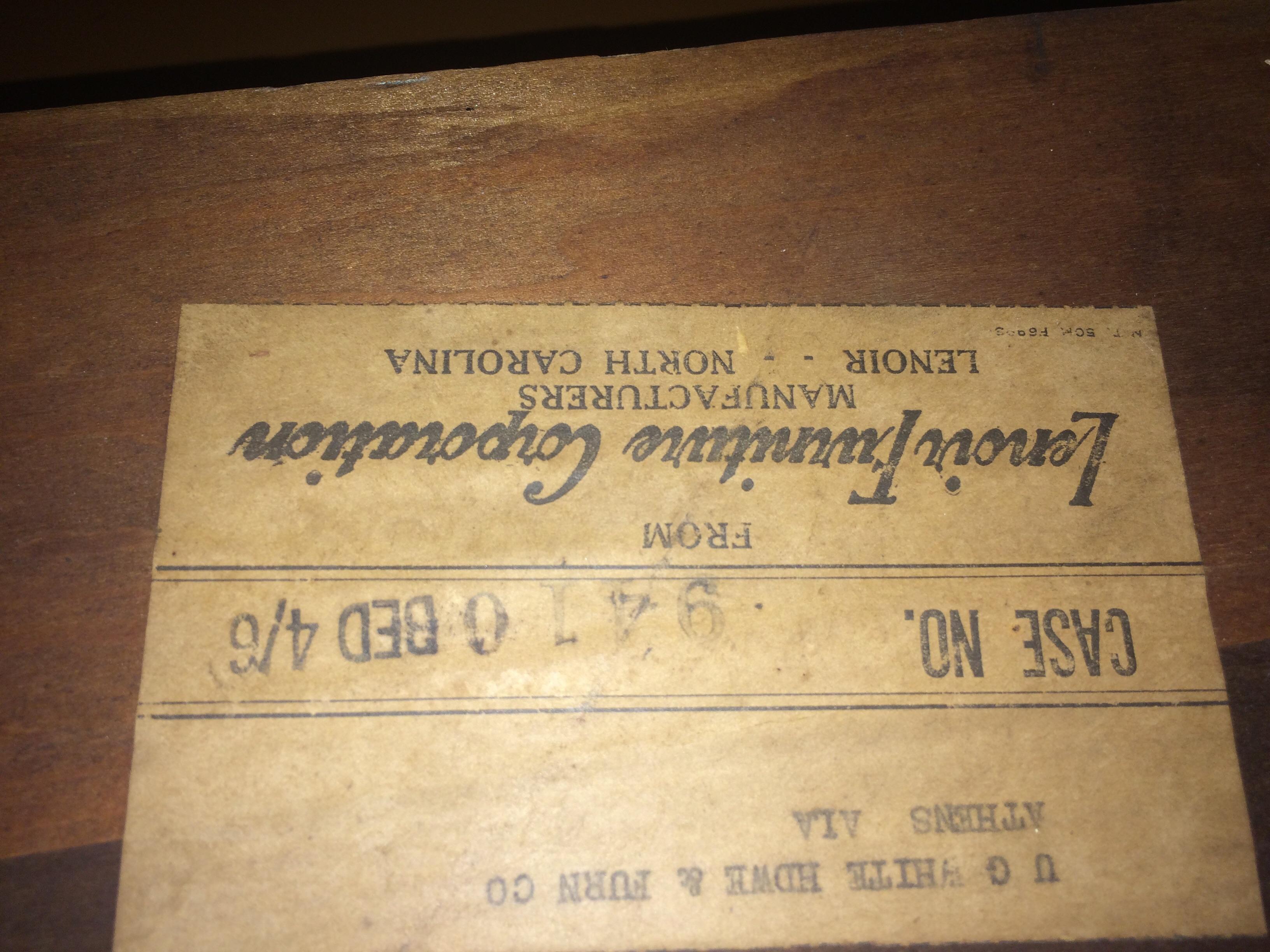 Superieur Lenoir Furniture Corporation Bed