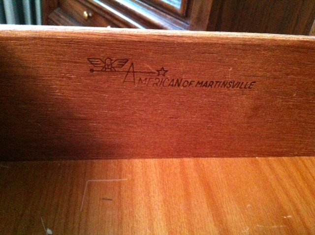 Midcentury American of Martinsville bedroom set antique appraisal ...