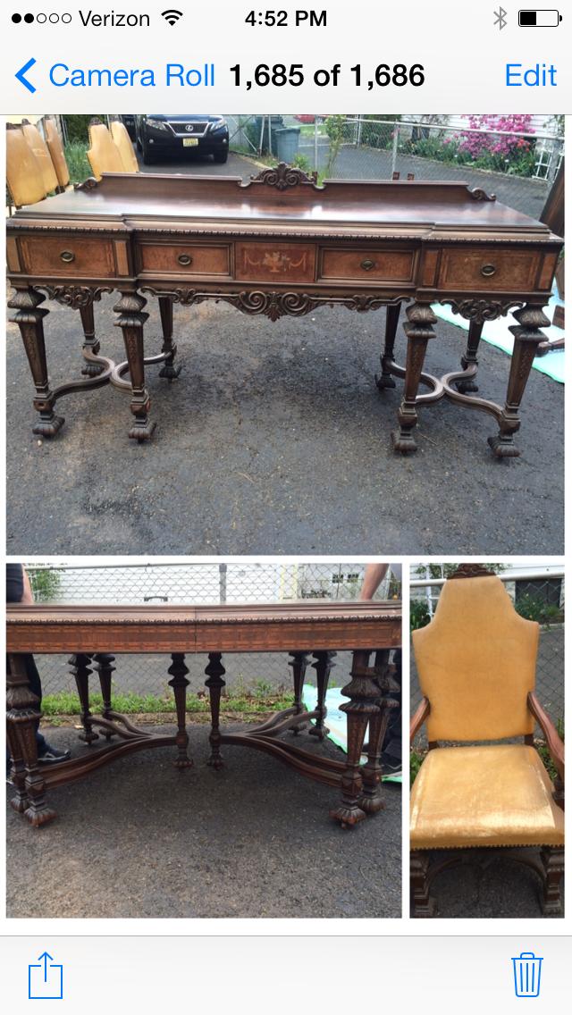 Antique Rockford Republic Furniture Co Dining Room Set Circa 1918