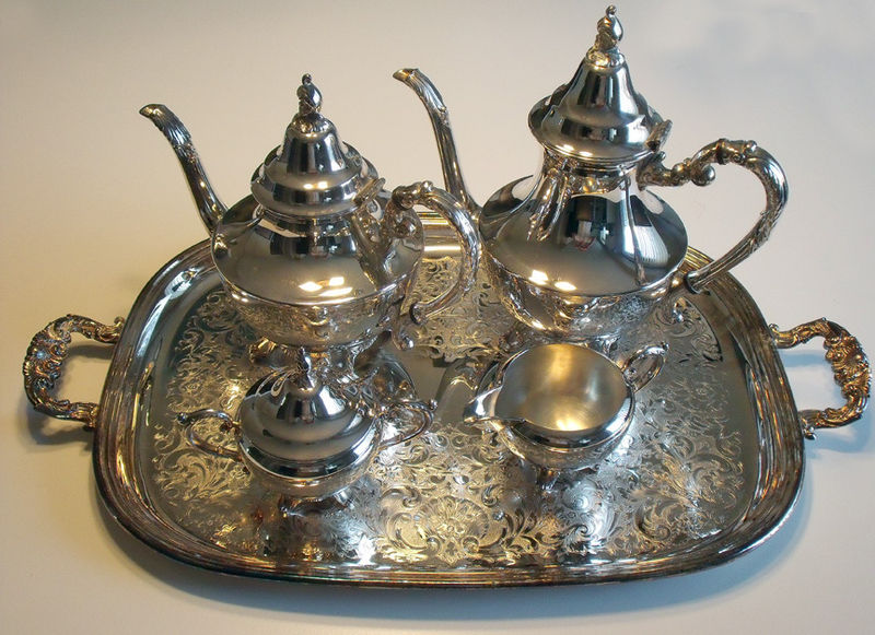 Interesting Wm Rogers Sterling Silver Tea Set Images - Best Image ...