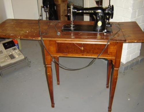 1936 Singer Sewing Machine Serial Ae094 442 Antique