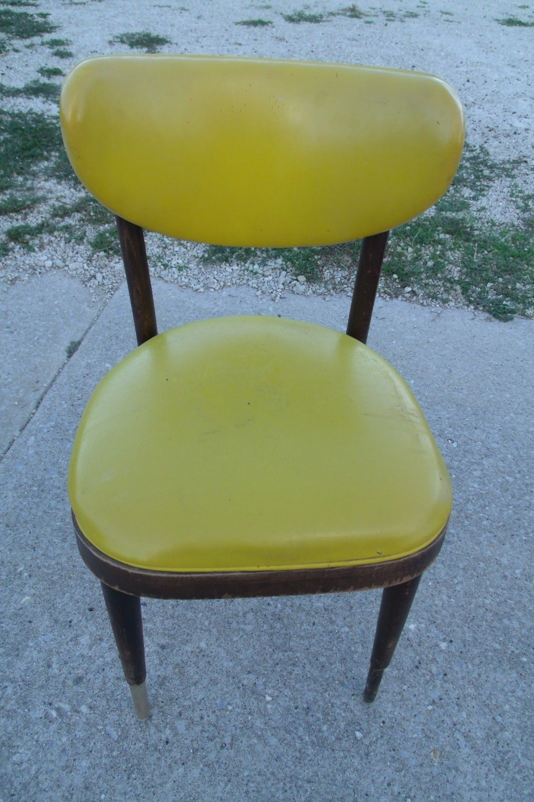 Shelby Williams Midcentury Wood And Cushion Chair