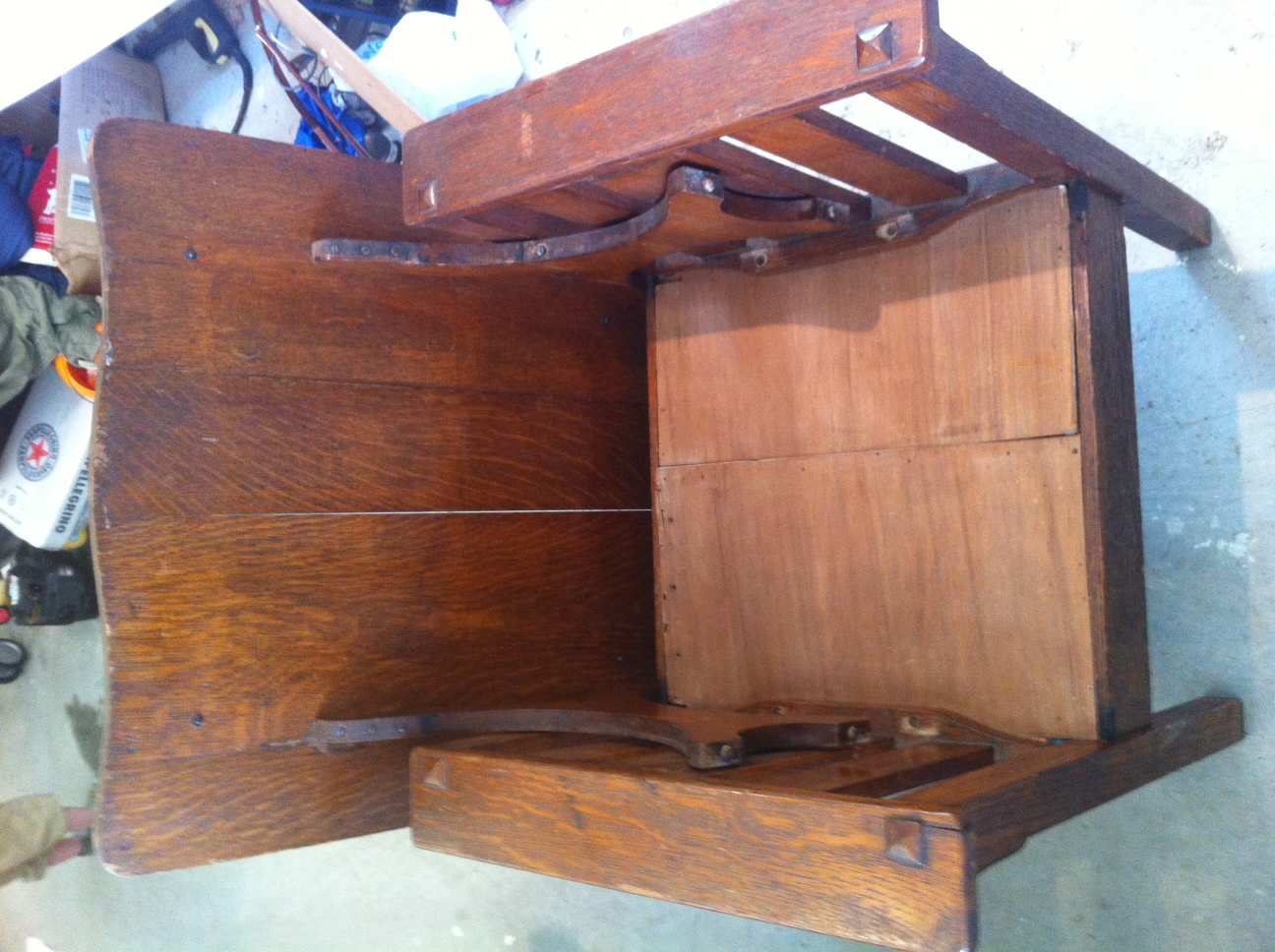Gustav Stickley Chair That Turns Into Table Antique