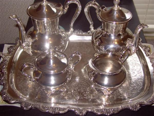 WM Rogers Silver Plated Tea Set antique appraisal | InstAppraisal