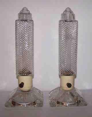 Vintage Art Deco Candlestick Table Lamps