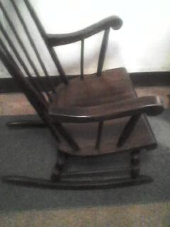 Pleasing Antique Rocking Chair Antique Appraisal Instappraisal Ocoug Best Dining Table And Chair Ideas Images Ocougorg