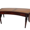 Imperial Mahogany drop leaf coffee table with leather top