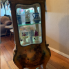 Vernis Martin Gilt & patent decorated Vitrine Curio Cabinet