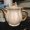 Pearl white teapot