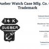 Antique Elgin laides pocket watch 14K gold Dueber case sailor anchor trademark