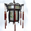 Chinese lantern with Églomisé Glass Panels