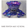 Fenton Carnival glass punch bowl set