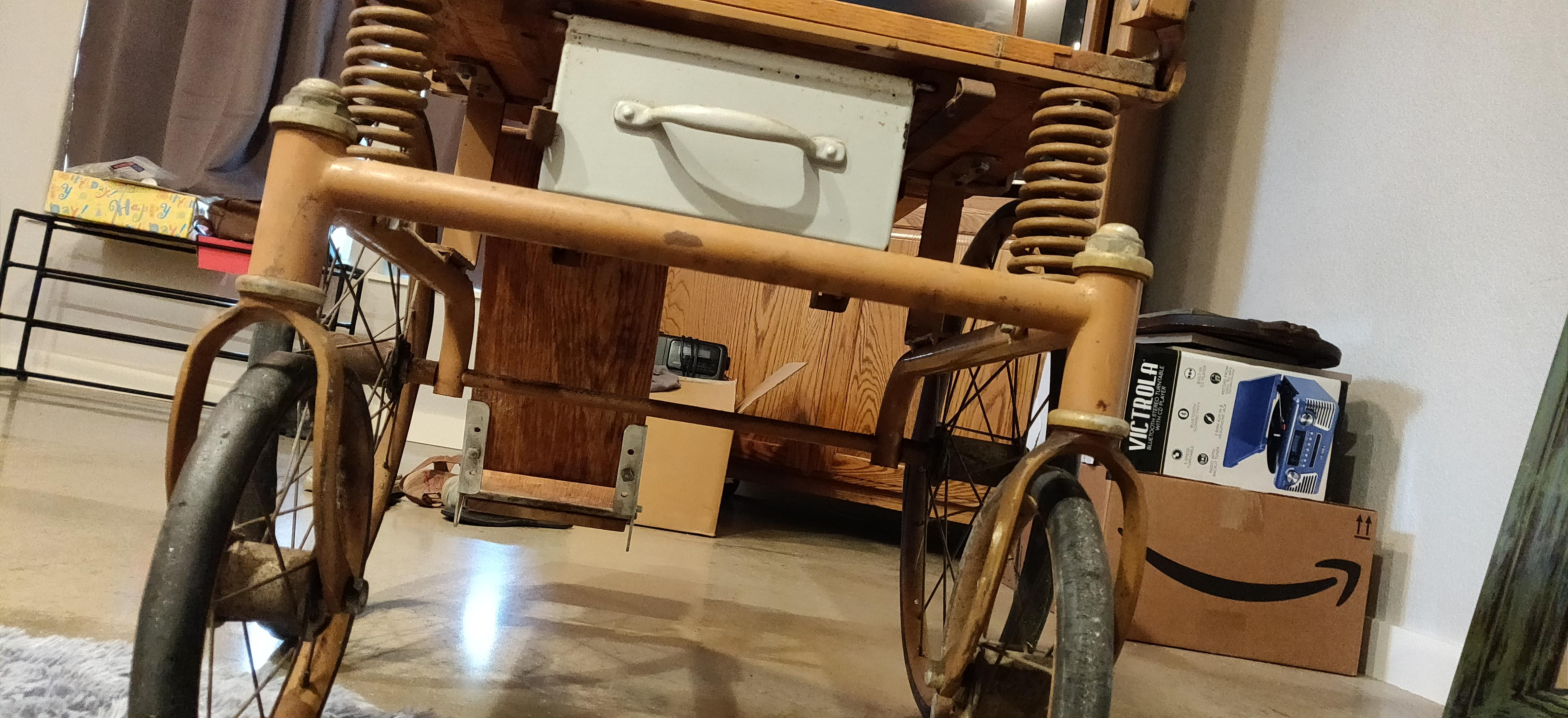 Antique Wheelchair with seat box appraisal