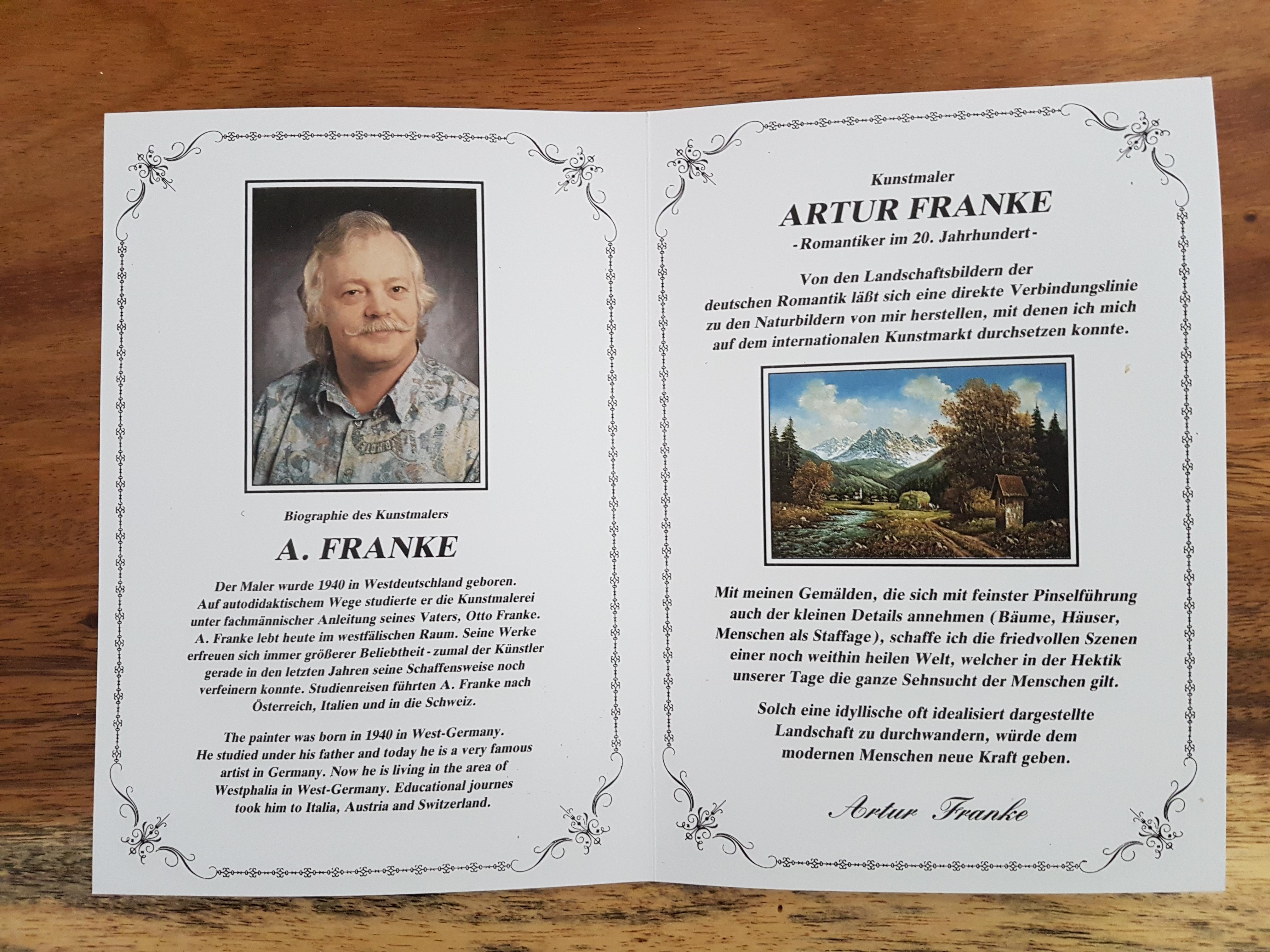 Artur Franke German Landscape appraisal