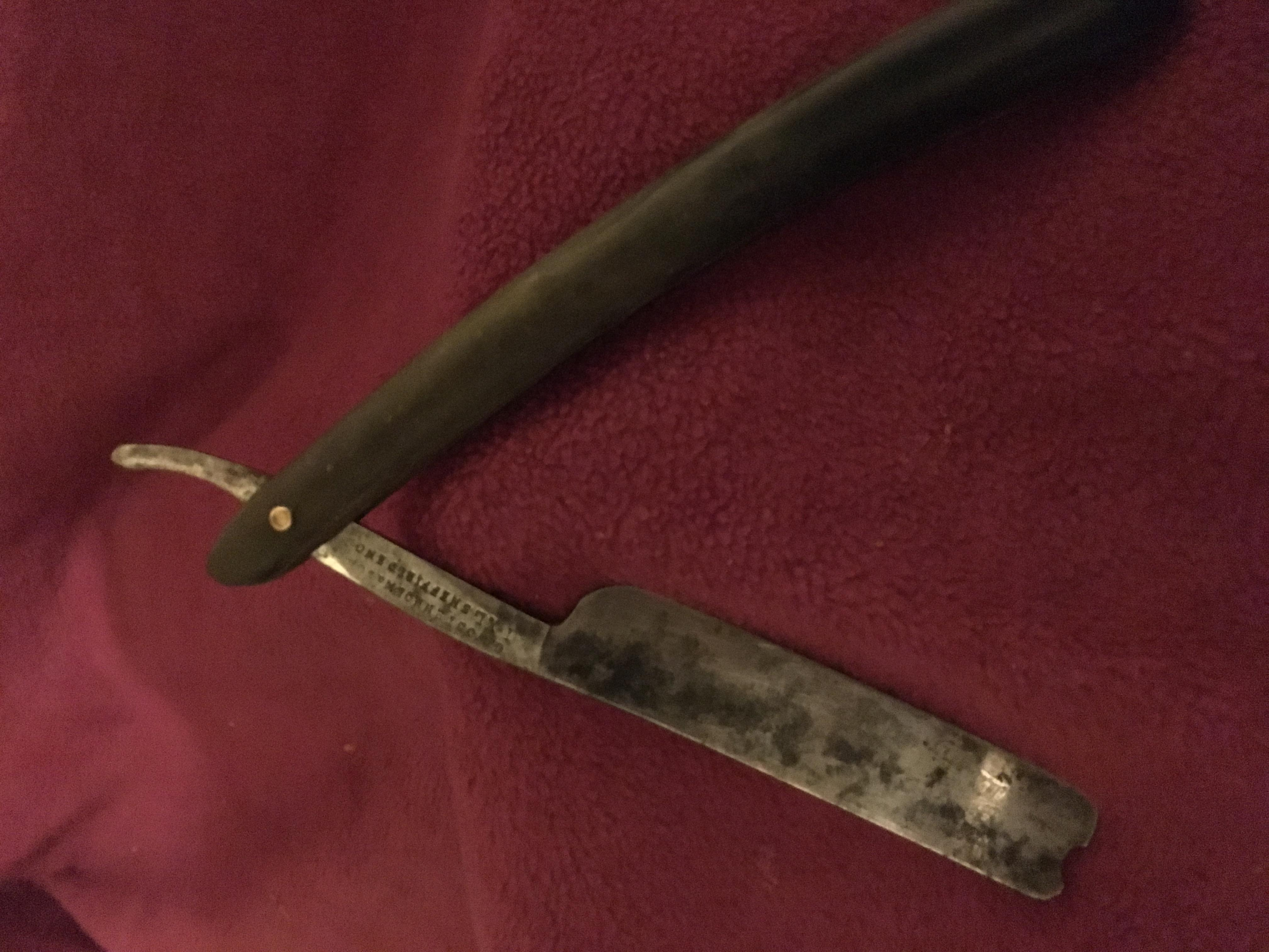 Antique Wade and Butcher Sheffield Straight Razor.  appraisal