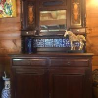 hard wood cabinet