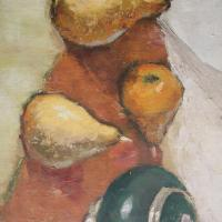 Still-life with pears and ginger jar