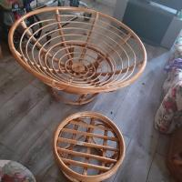 Vintage, Bamboo, Rattan, Wicker, Chair