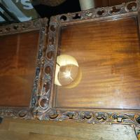 Tray tops on table