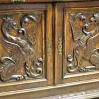 Neo Renaissance Griffon Carved Oak Server