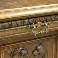 Neo Renaissance Griffon Carved Oak Server