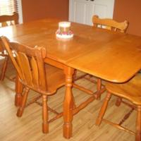 1900\u0027s Hard Rock Maple Dining Table Set & 1900\u0027s Hard Rock Maple Dining Table Set antique appraisal ...