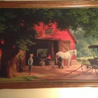 Horse and Buggy Days, signature visible in left lower corner