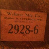 Underneath seat mfg. label