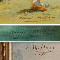 Raoul Millais signature compare with unknown signature